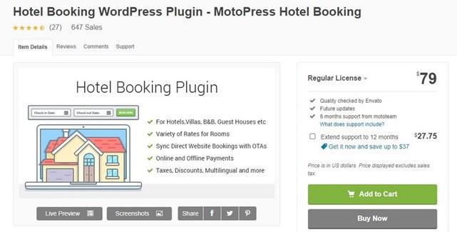 MotoPress WordPress Hotel Booking