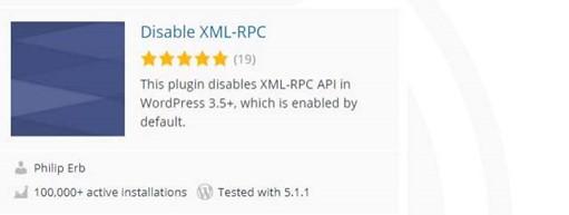 Disable XML-RPC Functio