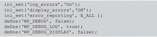 Disable WordPress PHP Error Reports