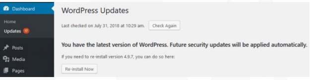 Update WordPress to the Latest Version